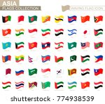 waving flag icon  flags of asia ... | Shutterstock .eps vector #774938539