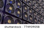 cryptocurrency mining farm.... | Shutterstock . vector #774939058