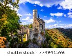 beautiful casles of germany ... | Shutterstock . vector #774941596
