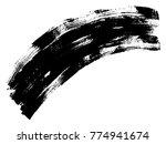 vector artistic freehand black... | Shutterstock .eps vector #774941674
