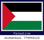vector postage stamp of a... | Shutterstock .eps vector #774944110