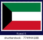 vector postage stamp of a... | Shutterstock .eps vector #774944188
