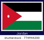 vector postage stamp of a... | Shutterstock .eps vector #774944200