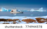 A Tourist Icebreaker Moored Of...