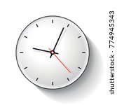 clock icon in flat style  timer ... | Shutterstock .eps vector #774945343