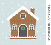 christmas cute house | Shutterstock .eps vector #774946453