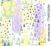creative seamless pattern with... | Shutterstock .eps vector #774952054