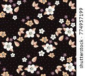 seamless pattern of small... | Shutterstock .eps vector #774957199