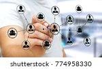 businessman on blurred... | Shutterstock . vector #774958330