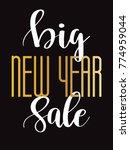 sale banner background for new... | Shutterstock .eps vector #774959044