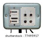 vintage machine control panel | Shutterstock . vector #77495917