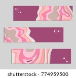 abstract banner template with... | Shutterstock .eps vector #774959500