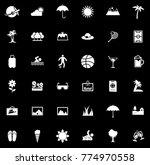 summer icons set | Shutterstock .eps vector #774970558