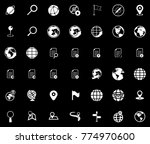 navigation icons set | Shutterstock .eps vector #774970600