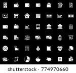 financial icons set   Shutterstock .eps vector #774970660