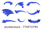 ribbon blue banner icon set.... | Shutterstock . vector #774972790