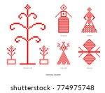 slavic red and belarusian... | Shutterstock . vector #774975748