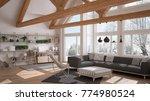 Living Room Of Luxury Eco Hous...
