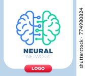 neural networks human brain... | Shutterstock .eps vector #774980824