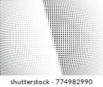 abstract halftone wave dotted...   Shutterstock .eps vector #774982990