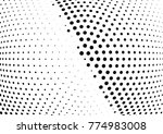 abstract halftone wave dotted...   Shutterstock .eps vector #774983008