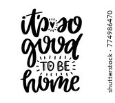 vector poster with phrase and... | Shutterstock .eps vector #774986470