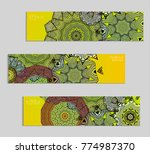 ethnic banners template with...   Shutterstock .eps vector #774987370