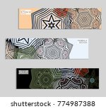 ethnic banners template with...   Shutterstock .eps vector #774987388