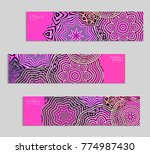 ethnic banners template with...   Shutterstock .eps vector #774987430