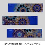 ethnic banners template with...   Shutterstock .eps vector #774987448