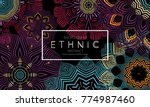 ethnic banners template with...   Shutterstock .eps vector #774987460