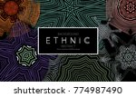 ethnic banners template with...   Shutterstock .eps vector #774987490