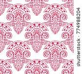 geometric  hand drawn seamless...   Shutterstock .eps vector #774988204