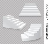 white stairs realistic isolated ... | Shutterstock .eps vector #774989770