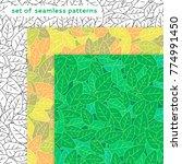 set of 3 vector seamless...   Shutterstock .eps vector #774991450