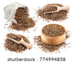cumin or caraway seeds isolated ...   Shutterstock . vector #774994858