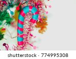 the staff  and decorations were ... | Shutterstock . vector #774995308