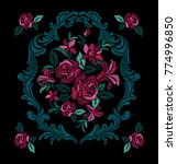 embroidery for fashion   Shutterstock .eps vector #774996850