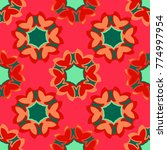 bright seamless pattern with...   Shutterstock .eps vector #774997954