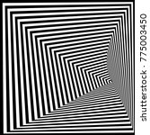 abstract black and white... | Shutterstock .eps vector #775003450