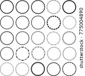 set of decorative circular... | Shutterstock .eps vector #775004890