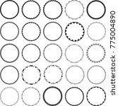 set of decorative circular... | Shutterstock .eps vector #775004890