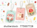 ice cream tags for price  sale... | Shutterstock .eps vector #775007728