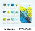 calendar 2018. abstract modern...   Shutterstock .eps vector #775008010