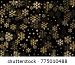 gold snowflakes falling winter... | Shutterstock .eps vector #775010488