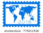 illustration of the 2018... | Shutterstock . vector #775011928