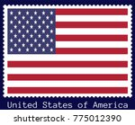 vector postage stamp of a... | Shutterstock .eps vector #775012390