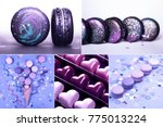 collage with ultra violet... | Shutterstock . vector #775013224