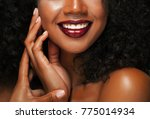 fashion makeup. close up of ...   Shutterstock . vector #775014934