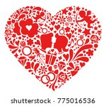 valentines day symbols into the ...   Shutterstock .eps vector #775016536